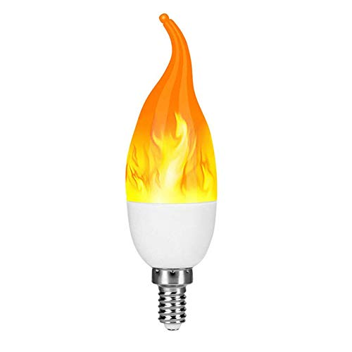 Yuanbbo LED Flame Effect Light Bulb Energy Efficient Flickering Fire Lights for Indoor Outdoor Use - 1 Pack]()