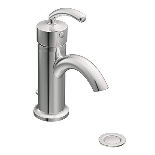 Moen S6500 Icon Collection Single-Handle Bathroom Vessel Sink Faucet Option, Chrome ()