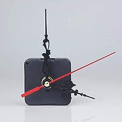 Pinleg Small Alarm Clock, New Black Wall Clock Quartz Movement Mechanism Hand DIY Replacement Part Set Creative Cross-Stitched Quartz Heart Home Decor (A)