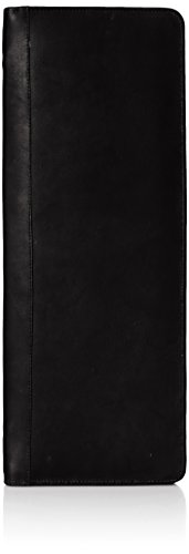 Piel Leather Zippered Tie Case with Snaps, Black, One (Leather Zippered Tie Case)