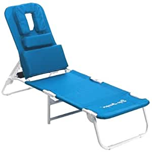 Ergo lounger rs relax n stretch beach chaise lounger w drink cell book holder - Ergonomic lounger ...
