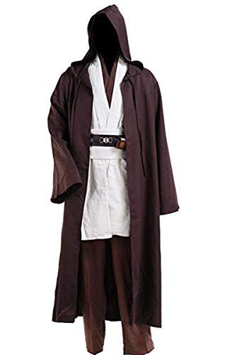 8019 - Jedi Star Wars Wizard Monk Adult Costume Cloak Robe (5) XXL, ()