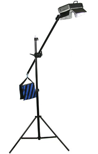 ePhoto 500 LED Video Photography Interview Hair Light Boom Lighting Stand Kit by ePhotoInc ULS500BOOM