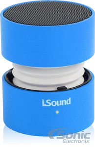 picture of iSound Fire Waves Bluetooth Speaker with microphone and changing LED light effects (blue)