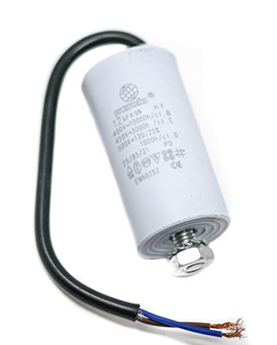 12 µF Universal Mondo Start/Run Motor Capacitor with Cable 450V, ()
