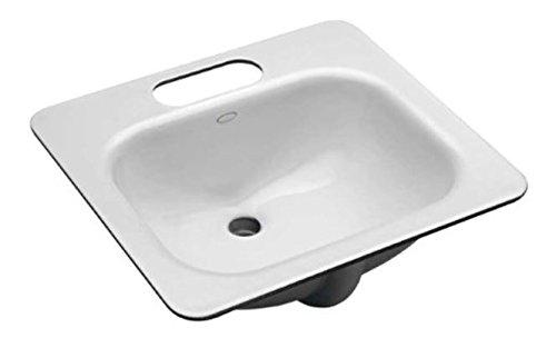 KOHLER K-2890-4U-0 Tahoe Undercounter Bathroom Sink, White