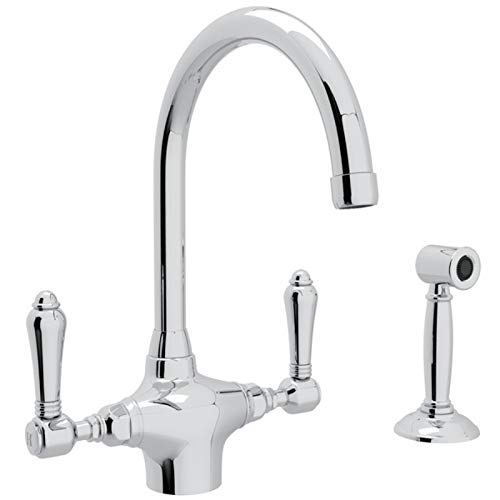(Rohl A1676LMWSAPC-2 KITCHEN FAUCETS, 7.5-in L x 8.7-in W x 11.6-in H, Polished Chrome)
