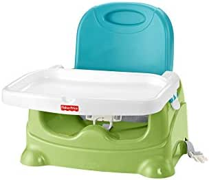 Fisher-Price Healthy Care Booster Seat, Green/Blue