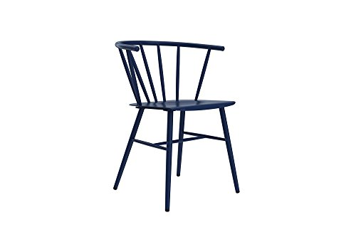Novogratz Campbell Cottage Dining Chair, Metal Design, Navy Blue