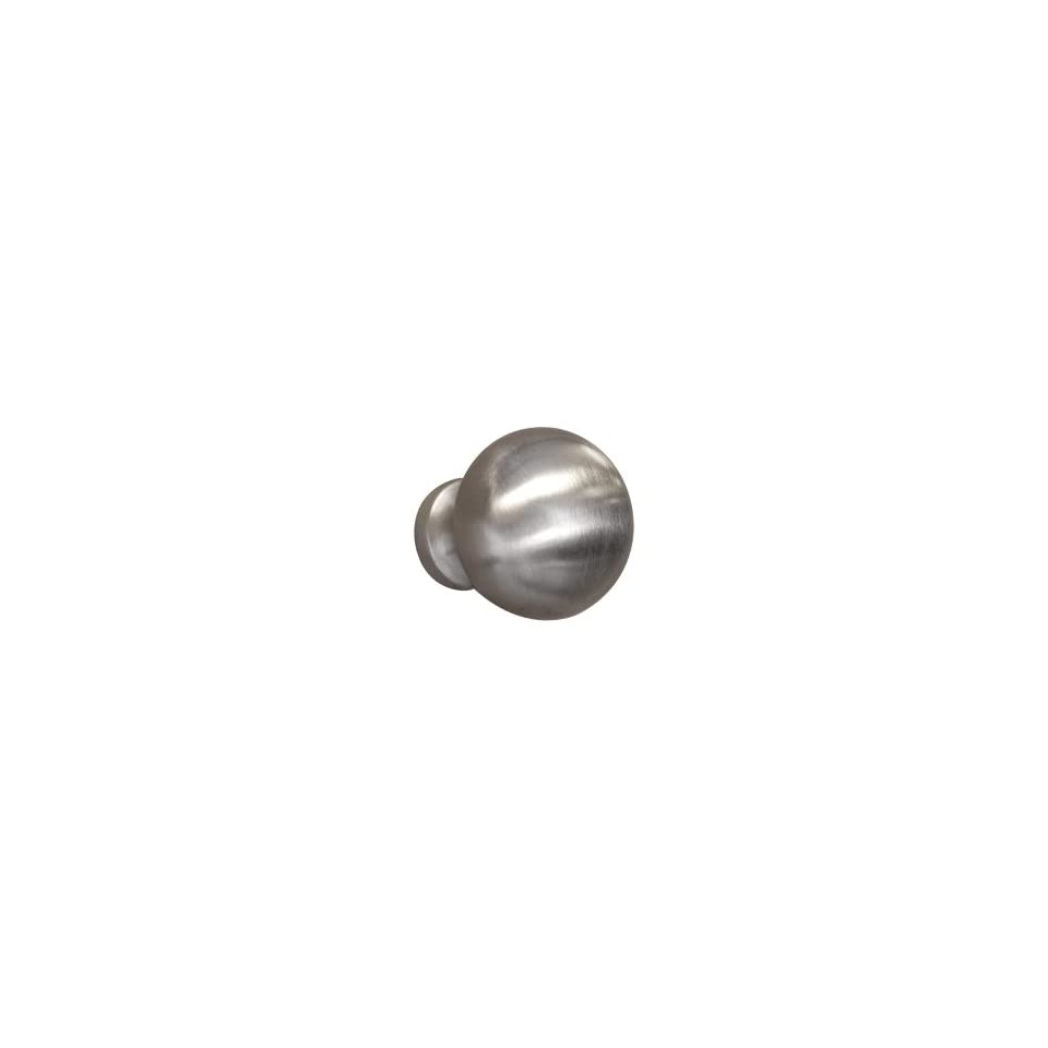 1 1/2 Solid Brass Contemporary Cabinet Knob   Brushed Nickel