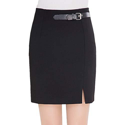 E-Girl FS7609 Jupe Crayon Club Mini Bodycon Grande Taille Taille Haute Noir