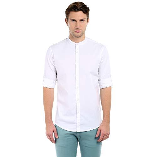 34236b277 Dennis Lingo Men's Solid Slim Fit Casual Shirt ...