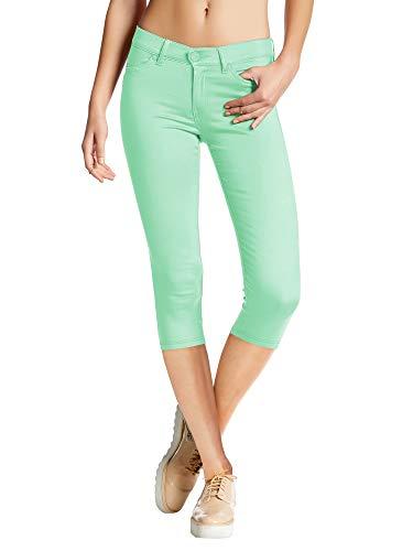 (Womens Super Stretch Comfy Skinny Pants Q44876X Mint 2X)