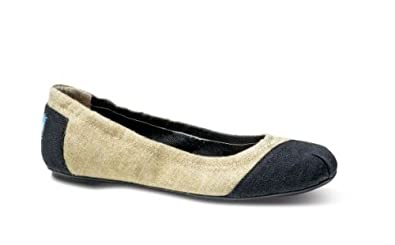 7963a7814 Image Unavailable. Image not available for. Color: TOMS Burlap Alessandra Ballet  Flats ...