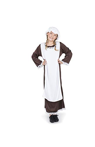 Girl's Medieval Servant Maid Costume for Halloween Party Accessory, -