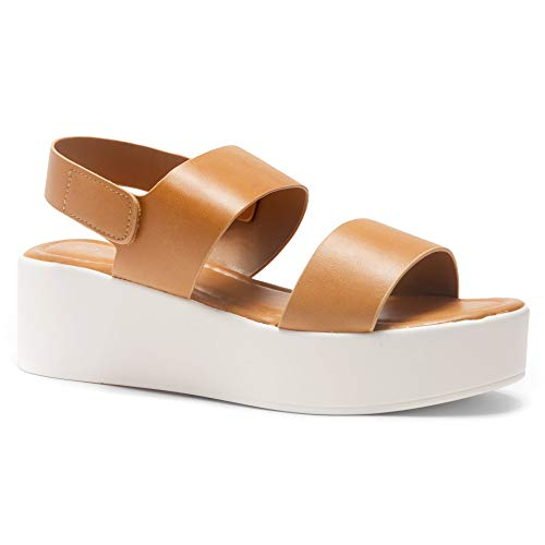 Platform Camel - Herstyle Women's Belma-Open Toe Ankle Strap Platform Wedge Sandals Camel 10.0