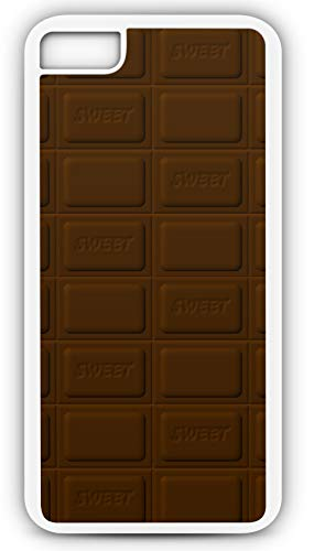 iPhone 8 Plus 8+ Case Chocolate Bar of Dark Chocolate Sweet Candy Customizable by TYD Designs in White Plastic Black Rubber Tough Case -