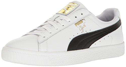 Puma Clyde - PUMA Men's Clyde Sneaker, White blac, 10 M US