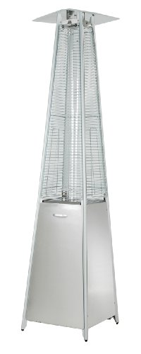 Hiland HLDS01-GTSS Quartz Glass Tube Patio Heater, 40,000 BTU, Stainless Steel, Pyramid, Silver (Best Gas Heaters For Large Areas)
