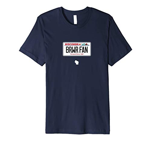 (BRWR FAN Brewer Fan License Plate Shirt)