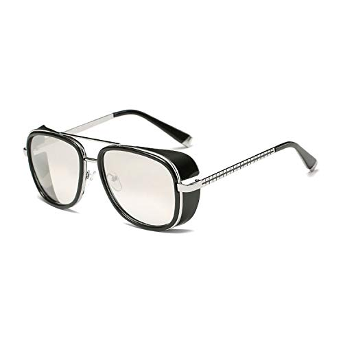 Sunglasses Men Luxury Eyewear Mirror Punk Sun Glasses Vintage Male Sunglasses Steampunk Oculos,C8 (Ironman Sunglasses Review)
