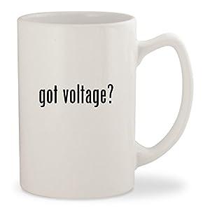 got voltage? - White 14oz Ceramic Statesman Coffee Mug Cup