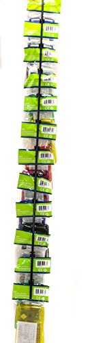 (Set of 5) Hanging Display Strip/Rack with 12 Clips for Chips, Snacks, Candy, Hats - Increase Sales & Organize by Quality Displays (Image #2)