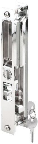 Slide-Co 142252 Sliding Door Handle Set, Mid Body Hook, Keyed, Chrome Diecast Chrome