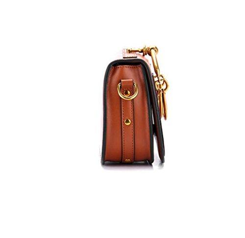 Sac Sacs Top en Bandoulière Totes Mode Cuir WenL Nouveau à Main Poignée Brown Messenger Anneau Véritable Bag Sac à aBWpqtw6