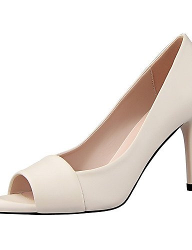 GGX/Damen Heels/Peep Toe/Plattform Schweinsleder Hochzeit/Party & Abend/Casual Stiletto Heel slip-onblack Pink/ black-us6.5-7 / eu37 / uk4.5-5 / cn37