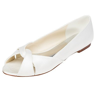 Others US10 UK8 Flats Evening Party Others Others 5 Dress Wedding EU42 CN43 Summer Stretch amp;Amp; Flat White Satin Women'S 5 Heel Ivory Spring ORAFTFwx