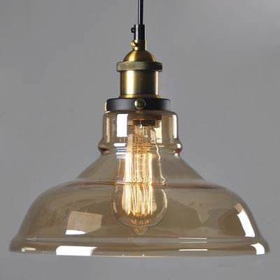 BAYCHEER Amber farbene Cristal de lámpara de techo colgante ...