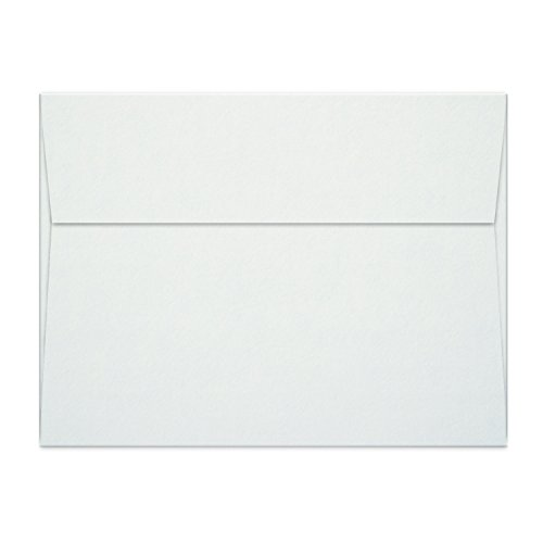 A7 5x7 White CardStock Invitation Envelopes PREMIUM Set of 55 (FREE 5 PCS) - Best For Weddings - Baby Shower - Greeting Cards - Photos - CD/DVD + Printer Friendly - Square Flap (5.25 X 7.25 | 120GSM)