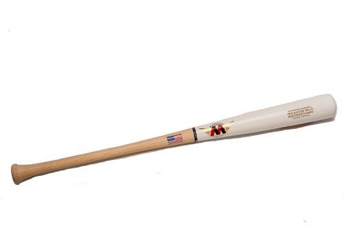 - Mpowered Baseball MP-072 Maple High Performance Trajectory Baseball Bat, White Washed Barrel with Raw Handle, 32-Inch