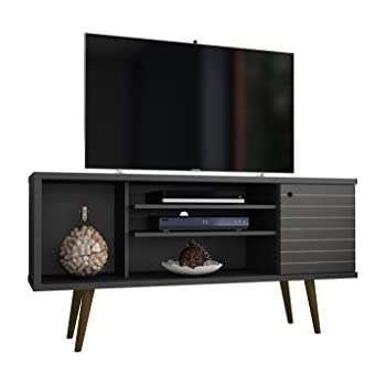 manhattan comfort 200amc8 liberty mid century modern living room tv stand small. Black Bedroom Furniture Sets. Home Design Ideas