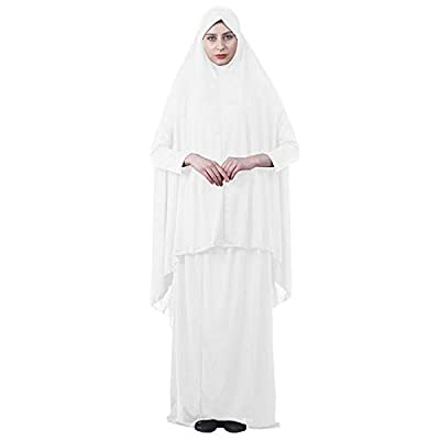 Two Piece Muslim Women Prayer Dress Isdal Outfit scarf Hijab Full Body Cover