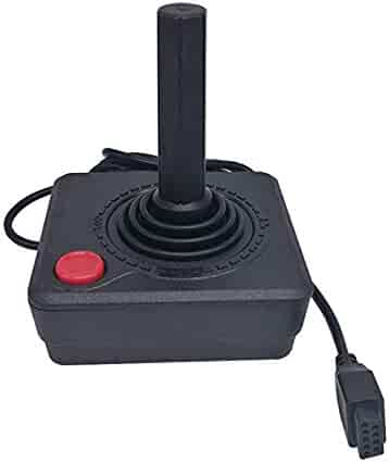 WiCareYo Black Retro Classic Controller Gamepad Joysticks for Atari 2600 System Console