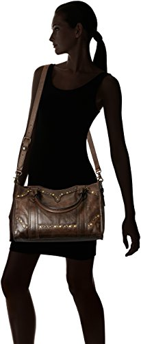 Stud FRYE Leather Bag Slate Satchel Melissa zfxwqf60