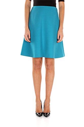 P127GTURCHESE Prada Faldas Mujer Lana Celeste Celeste