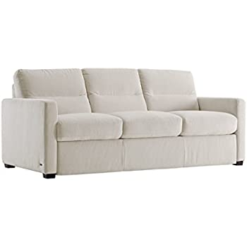 Galileo Cream Microfiber Queen Sleeper Sofa
