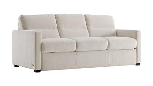 Galileo Cream Microfiber Queen Sleeper Sofa - Microfiber Sleeper