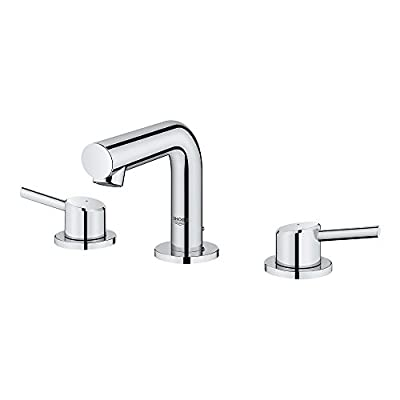 GROHE Concetto 8 In. Widespread 2-Handle Mid-Arc Bathroom Faucet