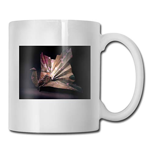 Porcelain Coffee Mug Origami Crane Ceramic Cup Tea Brewing Cups for Home Office ()