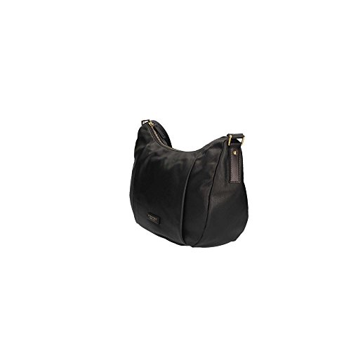 Borsa a spalla donna The Bridge in vera pelle Nero