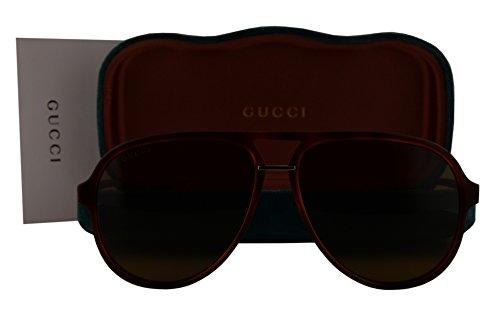 Gucci GG0015S Sunglasses Brown Havana w/Brown Lens 003 GG - Gucci New Sunglasses 2017