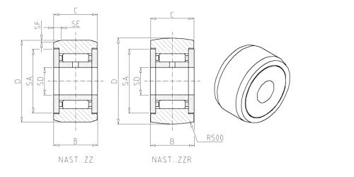 Forest Industry IKO NAST6ZZUU Roller Followers with Inner Ring 6x19x14mm