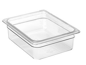 Cambro 14CW148 Camwear Food Pan plastic full-size 4''D white - Case of 6 by Cambro