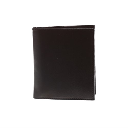 Paul & Taylor Black Leather Hipster Center Flap Bifold -