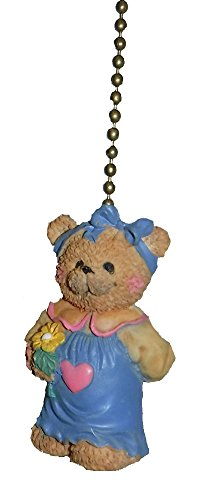 Baby Girl Teddy Bear Nursery Room Ceiling Fan Light Pull