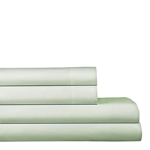 "AURAA Elegance 800 Thread Count 100% American Supima Long Staple Cotton Sheet Set,4 Pc Set, Queen Sheets Sateen Weave,Hotel Collection Soft Luxury Bedding,Fits Upto 16"" Deep Pocket,Seafoam"